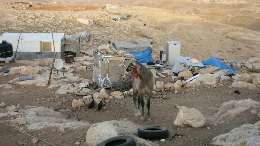 Abu Nuwar, el pueblo beduino del corredor E1 de Jerusalén/ Foto: Ana Garralda