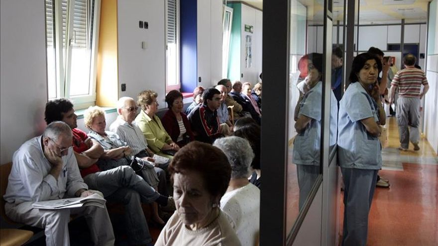 Sala de espera en un hospital de Euskadi