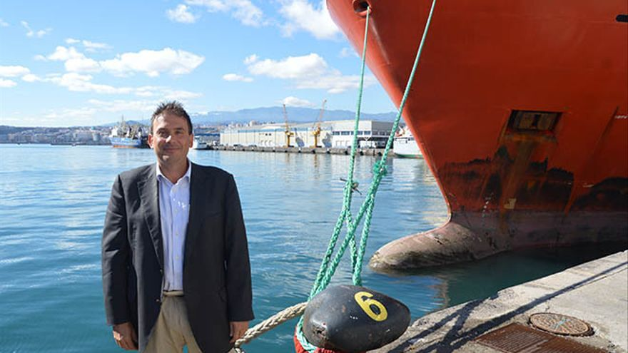El presidente de la Autoridad Portuaria de Las Palmas, Luis Ibarra. (Diario de Lanzarote)