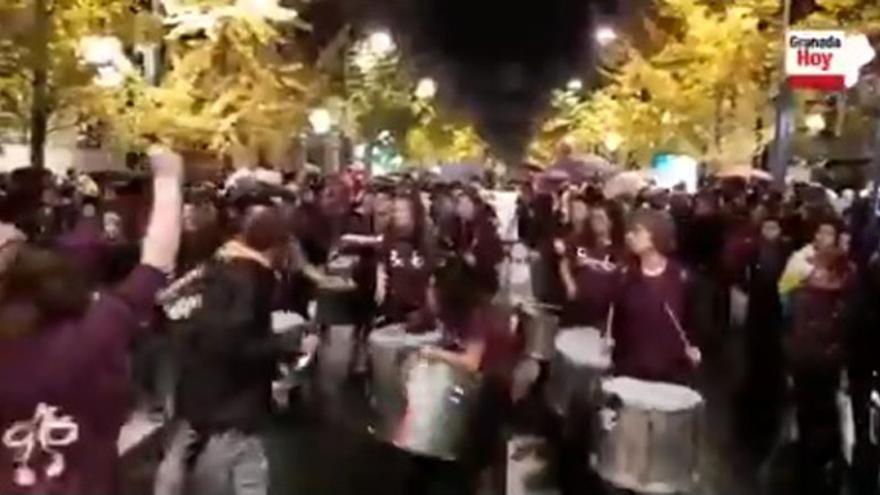 Detenido un hombre en Granada tras irrumpir con un arma blanca en medio de la manifestación del 25N