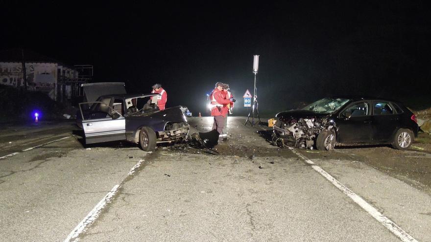 Dos heridos, uno con pronóstico grave, en una colisión ocurrida en Larraun