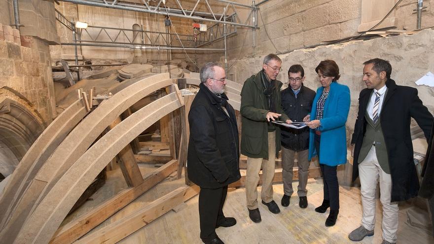 El claustro del Monasterio de Fitero recuperará para enero las bóvedas hundidas hace 120 años