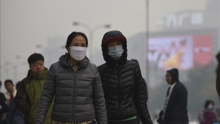 China emite una alerta amarilla por la contaminación en el norte del país