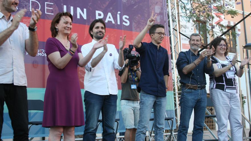 Errejón lideró el último gran acto de campaña de Unidos Podemos en Murcia