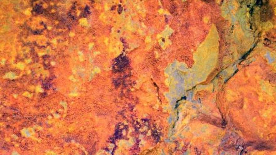 Conjunto de pinturas rupestres encontradas en Tavernes de la Valldigna