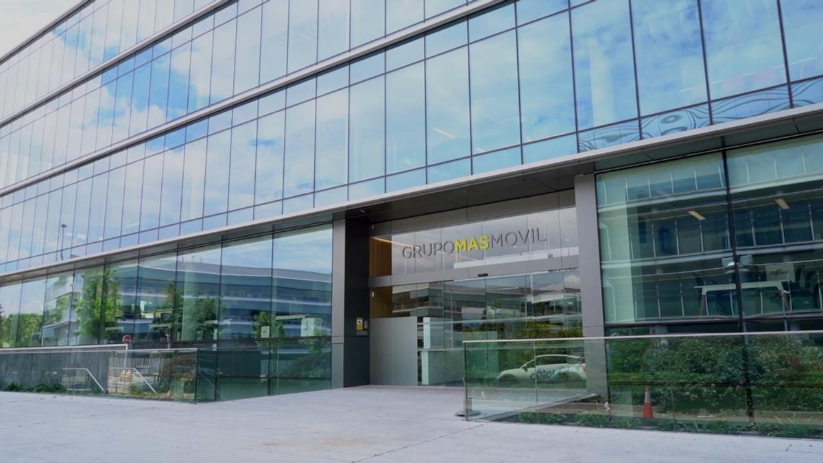 Fachada de la sede central del Grupo MásMóvil en Alcobendas (Madrid).