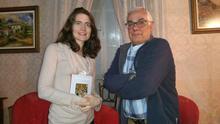 Laura Hydak y Luis León Barreto este sábado en la casa de la familia Cabrera. Foto: LUZ RODRÍGUEZ.