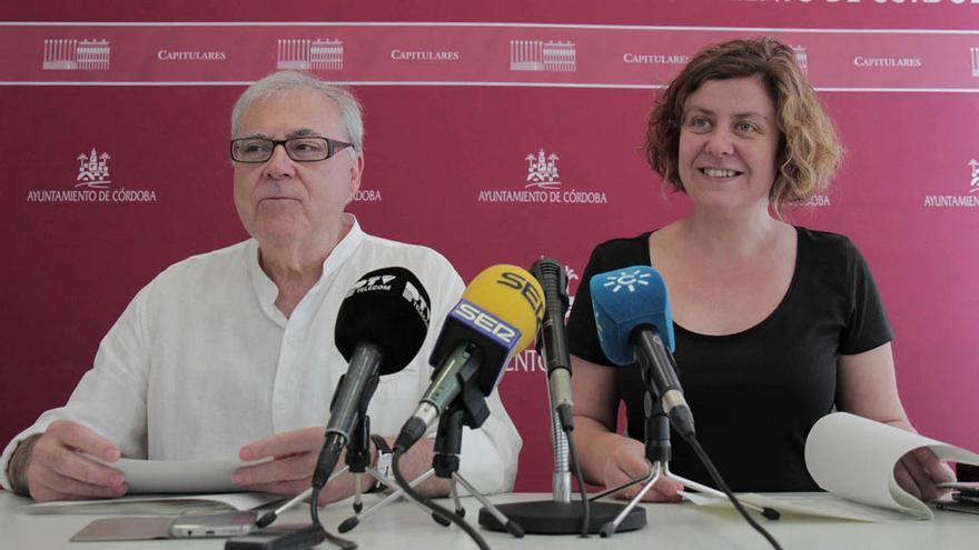 Emilio Aumente y Alba Doblas, tras la Junta de Gobierno Local | RAFAEL MELLADO