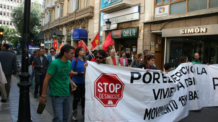 Protesta contra la Ley Mordaza en Albacete