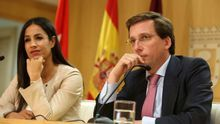 El alcalde y la vicealcaldesa de Madrid, José Luis Martínez-Almeida y Begoña Villacís.