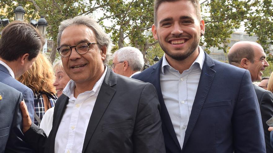 Los portavoces de PSPV y Compromís en las Corts, Manolo Mata y Fran Ferri