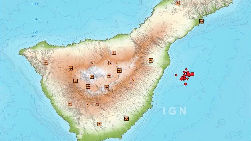 Microseismos detectados frente a la costa de Güímar