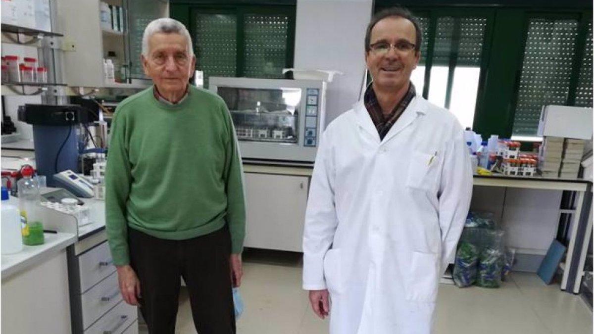 Los catedráticos de Producción Vegetal del departamento de Agronomía de la UCO, José Torrent y Vidal Barrón.