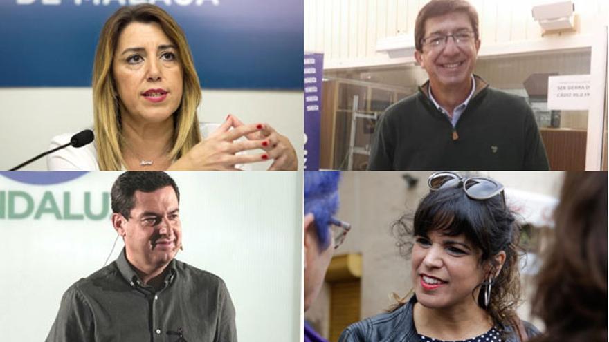 Los cuatro principales candidatos a la Presidencia de la Junta