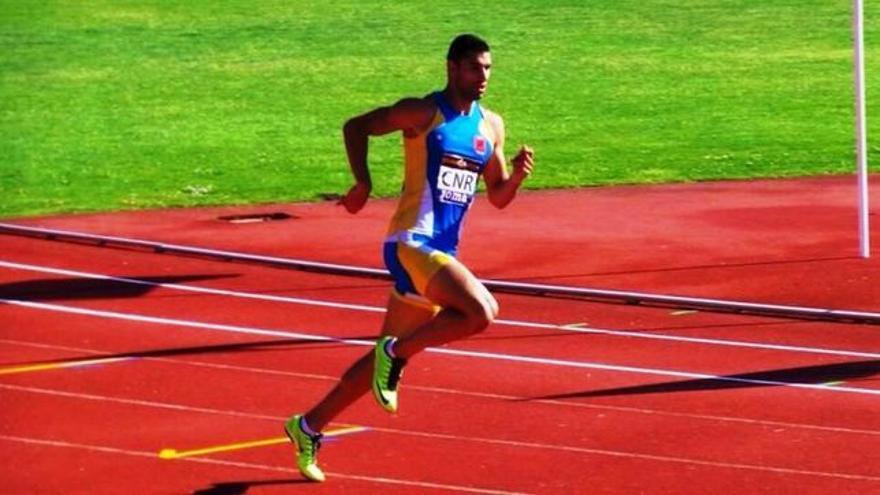 El velocista Samuel García compite este sábado en Belgrado.