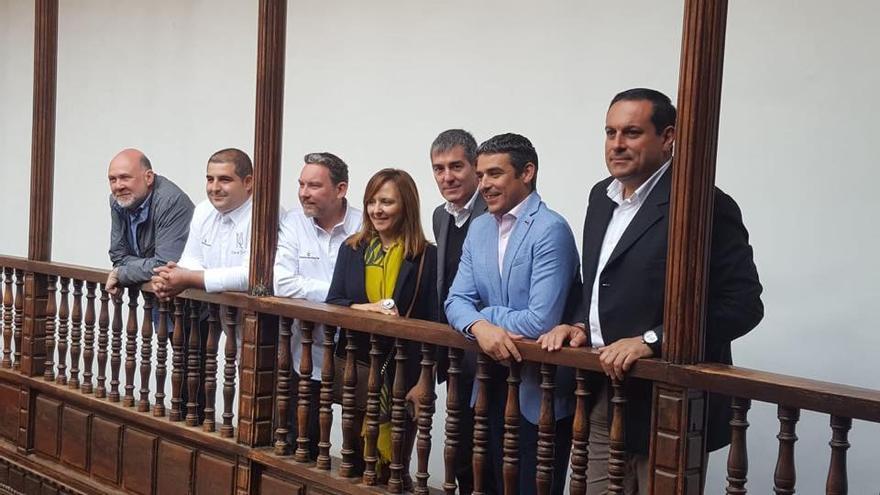 Imagen de archivo de la presentación de la grabación en La Palma de El Chef Viajero', un proyecto documental del Gobierno de Canarias para promocionar las producciones del Archipiélago.