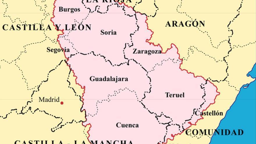 Mapa incluído en la ponencia sobre despoblación en la Comisión de Entidades Locales del Senado.