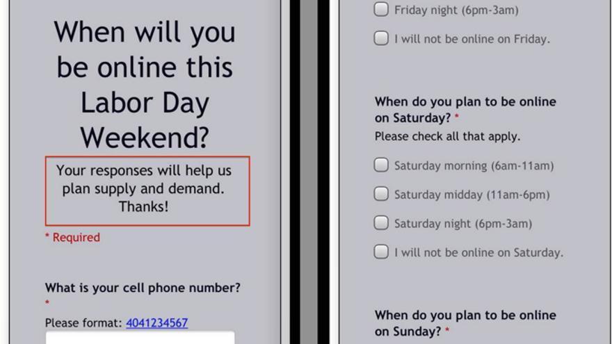 """Uber pregunta a sus conductores los días y horarios en los que tienen pensado trabajar para ayudarles a """"planear la oferta y la demanda"""""""