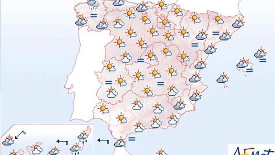 Persisten la nubosidad y las precipitaciones en Galicia y Canarias