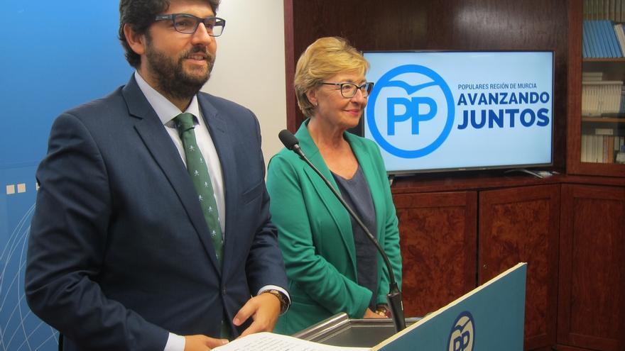 López Miras obtiene el apoyo de todos los miembros de la Junta Directiva del PP para presidir el partido en Murcia