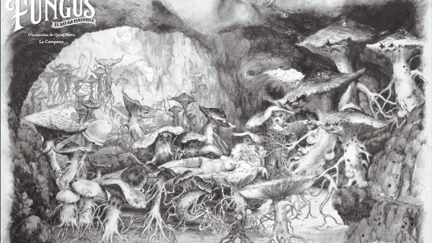 Una de las ilustraciones del artista catalán Quim Hereu que acompañan la novela