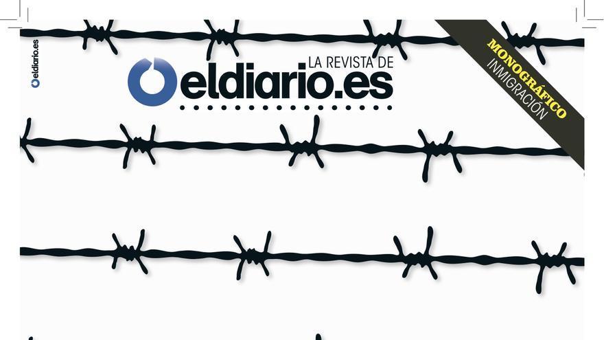Portada de la revista de eldiario.es sobre inmigración, Cuadernos #8.