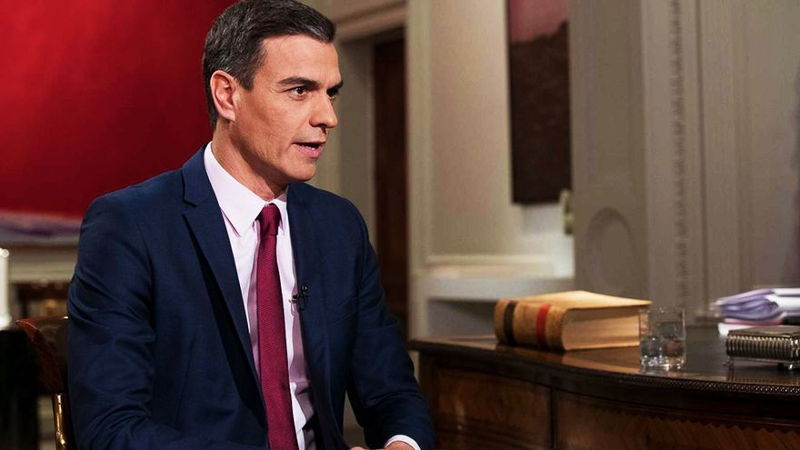 Pedro Sánchez en su anterior entrevista en TVE