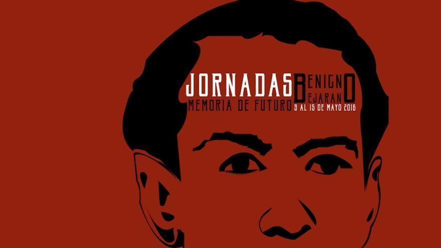 Cartel de las jornadas en memoria de Benigno Bejarano / Colectivo Memoria de Futuro
