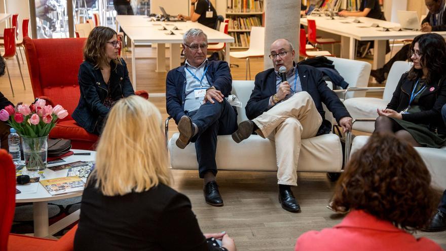 El alcalde Valencia, Joan Ribó y el conseller de Transparencia, Manuel Alcaraz, en el Internet Freedom Festival