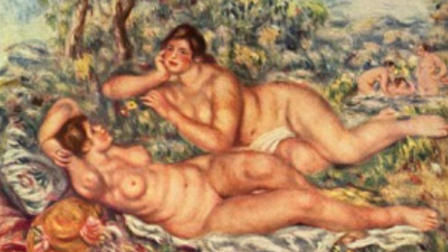 'Las bañistas', Renoir 1918