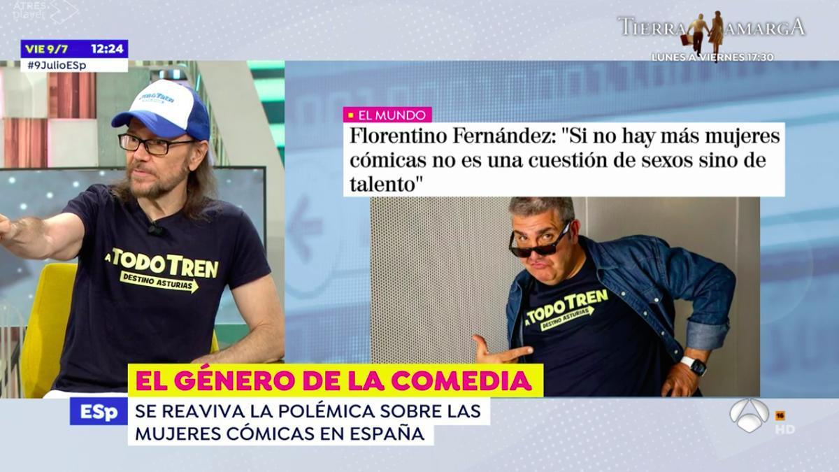 Santiago Segura, en 'Espejo Público'