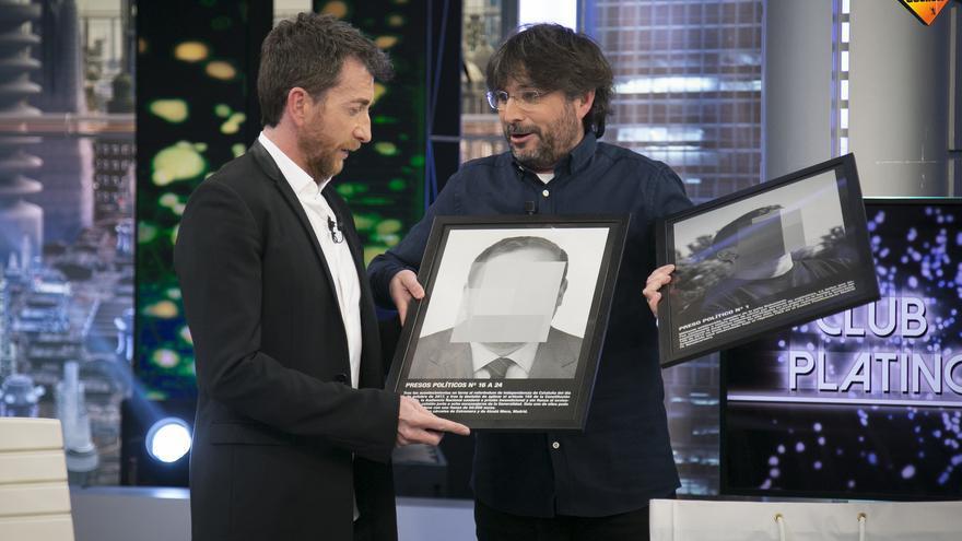 Jordi Évole en El Hormiguero con Pablo Motos