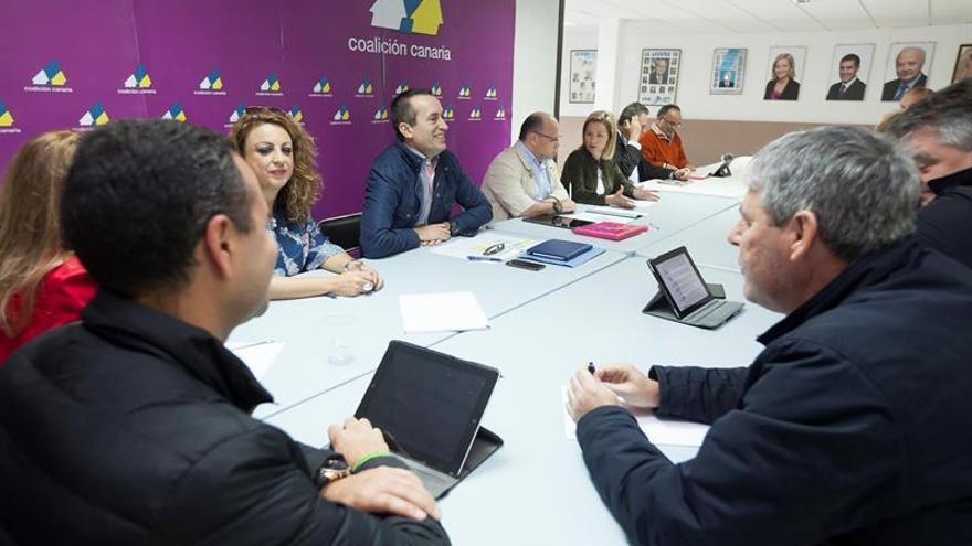 La Comisión Ejecutiva Nacional de Coalición Canaria durante la reunión mantenida en febrero de 2016 en La Laguna (Tenerife)