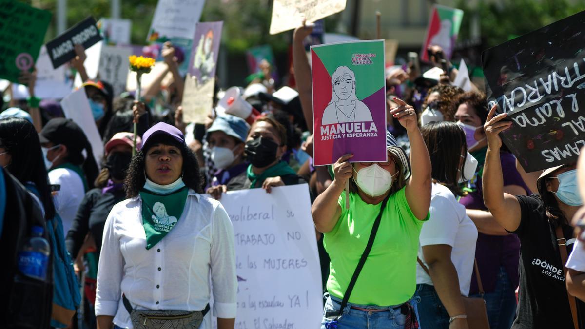 7 de marzo de 2021. Manifestación feminista en la víspera del Día Internacional de la Mujer de 2021.