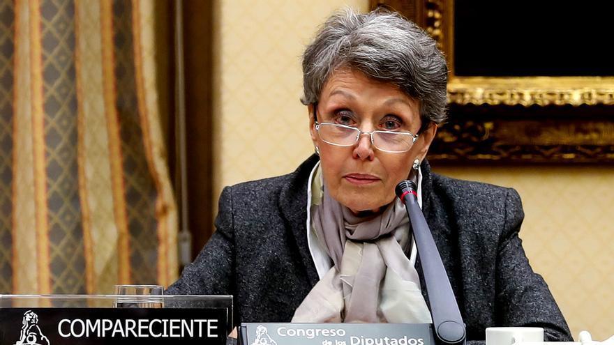 Rosa María Mateo, hoy en el Congreso