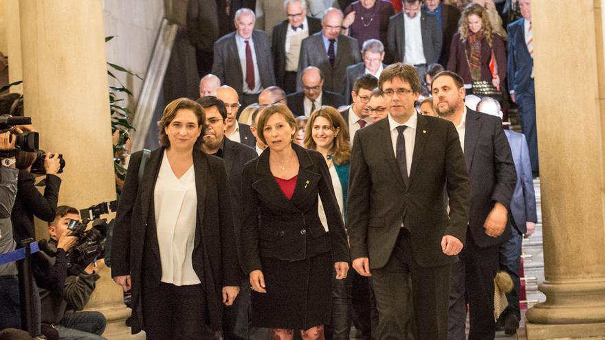 Simera pel Referendum al Parlament de Catalunya.