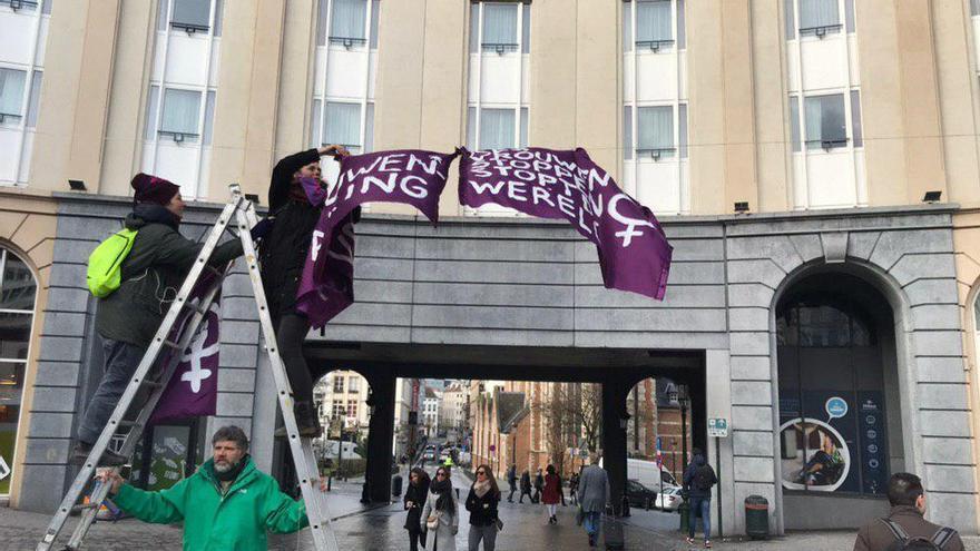 Arranca la movilización del 8M en Bruselas