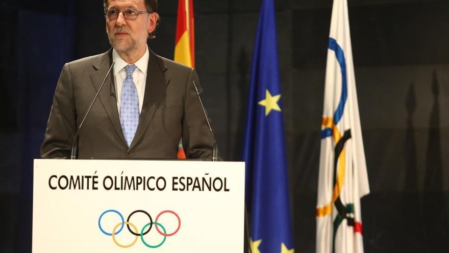 """Mariano Rajoy: """"Los deportistas representan un papel importante en la imagen exterior de España"""""""