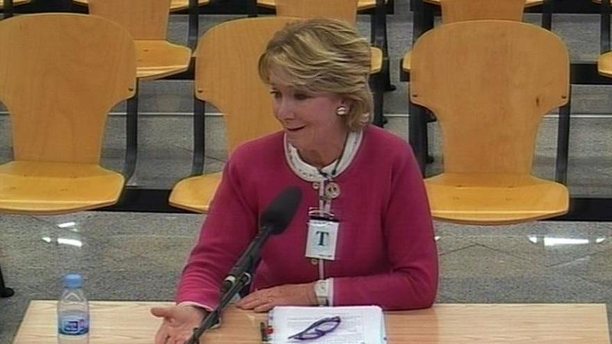 Éxitos y lágrimas de Aguirre en la Audiencia Nacional