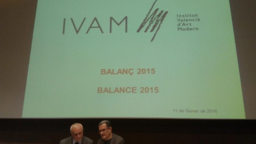 Albert Girona, secretario autonómico de Cultura y Deporte, y José Miguel García Cortés, director del IVAM