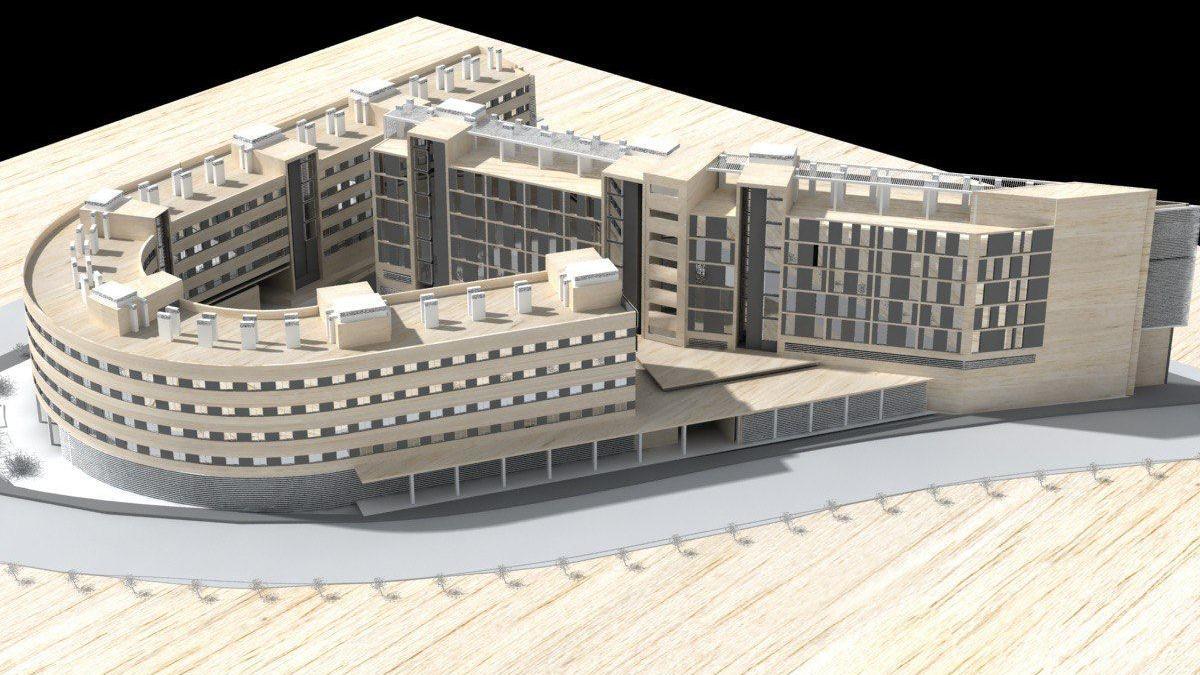 Maqueta del proyecto de apartamentos para mayores de Sama Naharro.