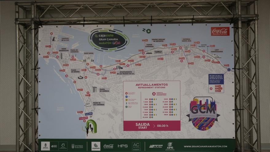 El recorrido de la Gran Canaria Maratón continúa a una sola vuelta a pesar de las obras de la MetroGuagua