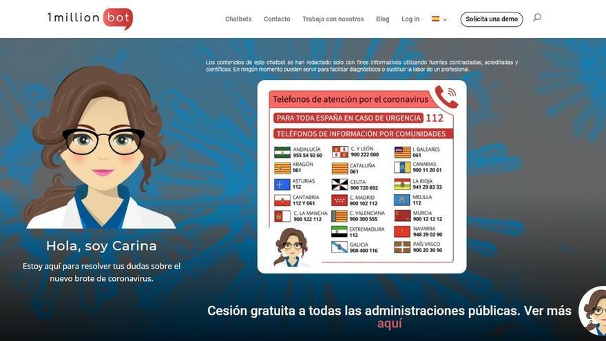 Una empresa española diseña un bot que resuelve dudas sobre el coronavirus consultando información de la OMS y Sanidad