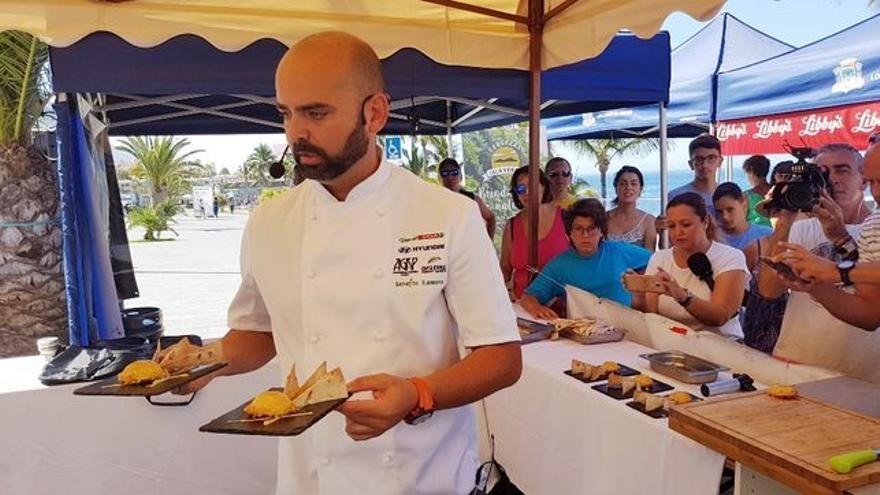 Serafín romero ganó el IX Encuentro Regional de Cocineros Canarios.