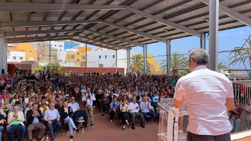 Acto de Nueva Canarias en Mogán.