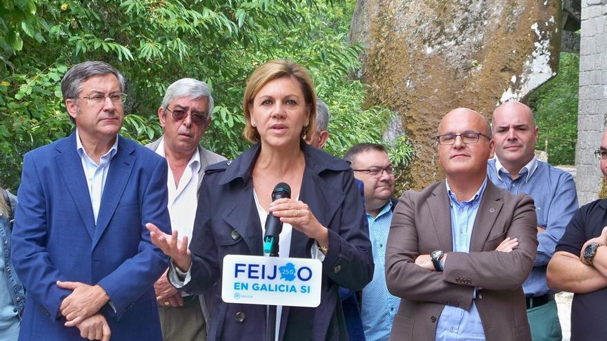 """De Cospedal pide el voto para Feijóo para que los gallegos eviten """"aventuras, bloqueos y que se les tome el pelo"""""""