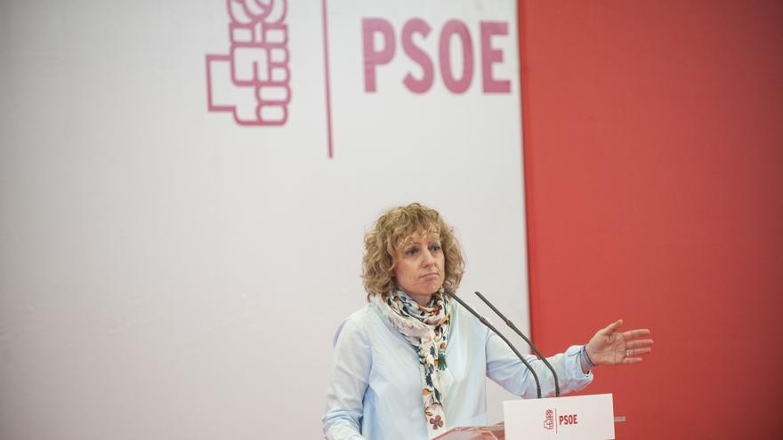 Eva Díaz Tezanos en un acto de campaña del PSOE. (ARCHIVO).