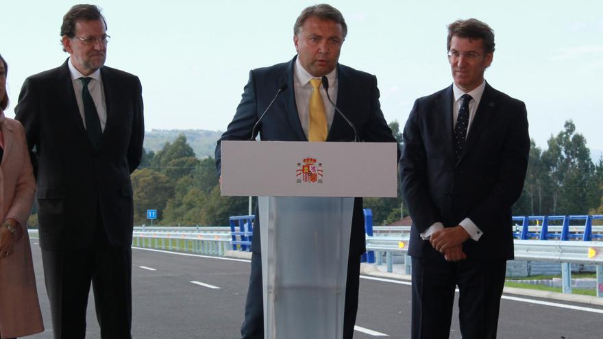 Taboada, con Ana Pastor, Rajoy y Feijóo en la inauguración de un tramo de la A-54