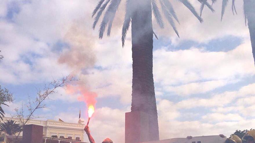 Manifestación del personal del Consorcio de Emergencias de Gran Canaria