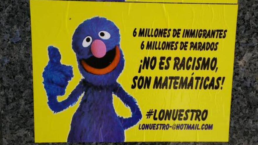 Campaña contra la inmigración en Madrid (2015).